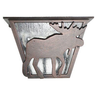 Americana 1-Light Flush Mount Finish: Architectural Bronze
