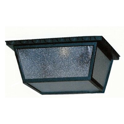 Kiss Series 1-Light Flush Mount Finish: Old Iron, Size: 4 H x 8 W