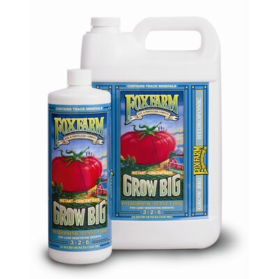FoxFarm Grow Big Hydro Liquid Concentrate Fertilizer - Size: 1 Gallon at Sears.com