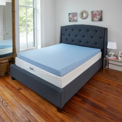 Ventilated Gel Memory Foam Mattress Topper Size: Full