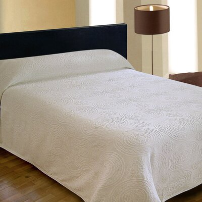 Jacquard Bedspread Color: White, Size: Full