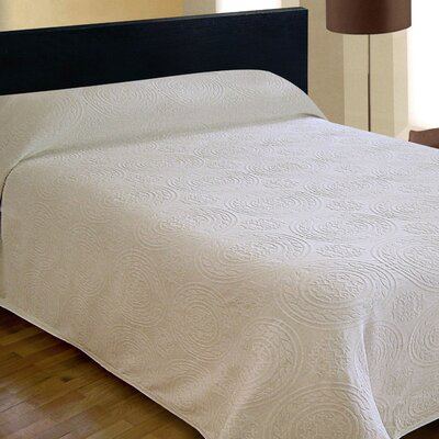 Bargoose Home Textiles Jacquard Bedspread - Color: White, Size: King