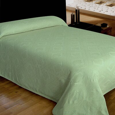 Jacquard Bedspread Size: King, Color: Green