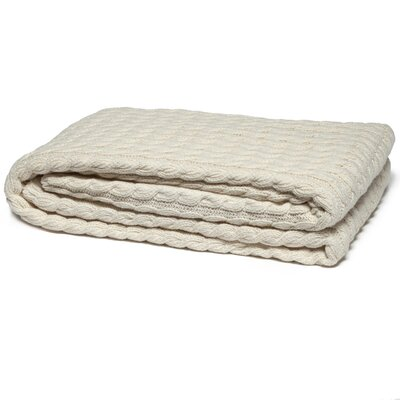 Eco Designer Ribbed Cable Cotton Throw Blanket
