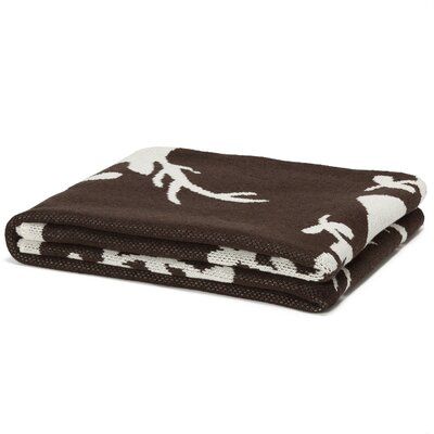 Eco Designer Stag with Vine Throw Blanket