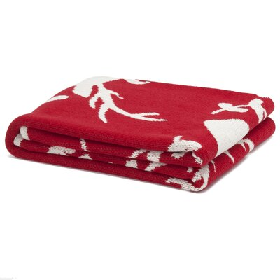 Eco Designer Stag Silhouette Throw Blanket