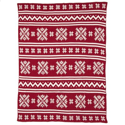 Eco Designer Fair Isle Throw Blanket Color: Pomegranate
