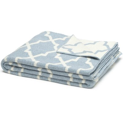 Eco Designer Morocco Reversible Throw Blanket Color: Milk/Blue Pond