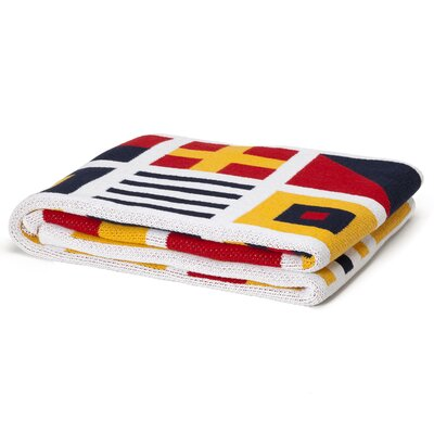 Eco Designer Nautical and Signal Flags Throw Blanket