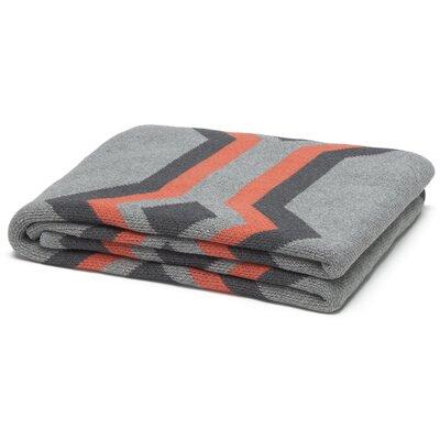 Eco Designer Serape Throw Blanket Color: Aluminum/Smoke/Coral