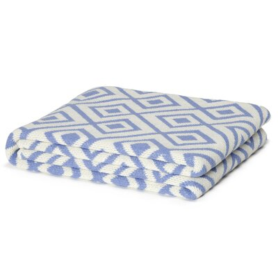 Eco Designer Mod Squares Throw Blanket Color: Lilac