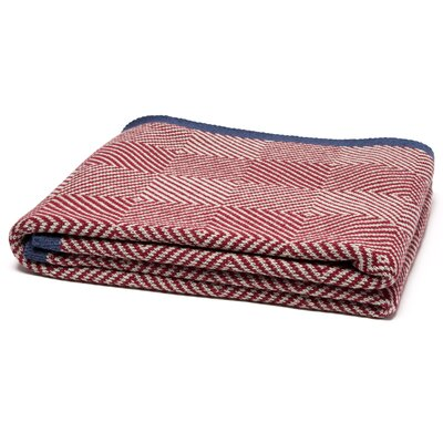 Woven Square Throw Blanket Color: Pom/Flax/Slate