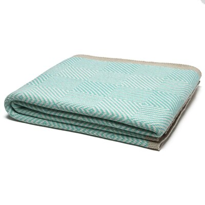 Woven Square Throw Blanket Color: Milk/Seafoam/Hemp