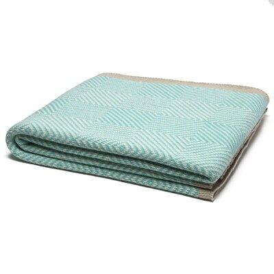 Woven Square Throw Blanket Color: Milk/Seafoam/Hemp