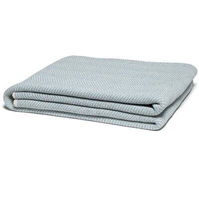 Herringbone Throw Color: Blue Pond