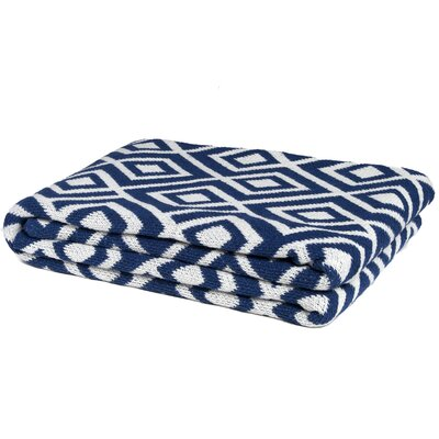Mod Square Throw Blanket Color: Cobalt