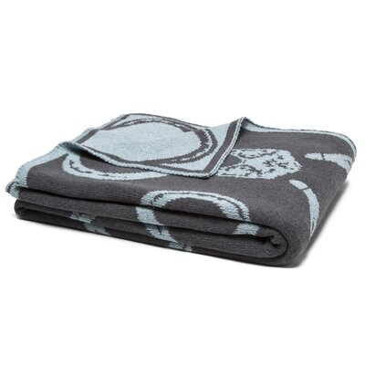 Reversible Mr. Fox Throw Blanket Color: Pond/Smoke