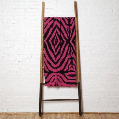 Zebra Throw Blanket Color: Fuchsia/Black