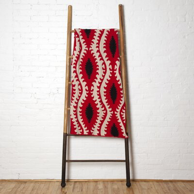 Reflections Throw Blanket Color: Flax/Cherry/Black