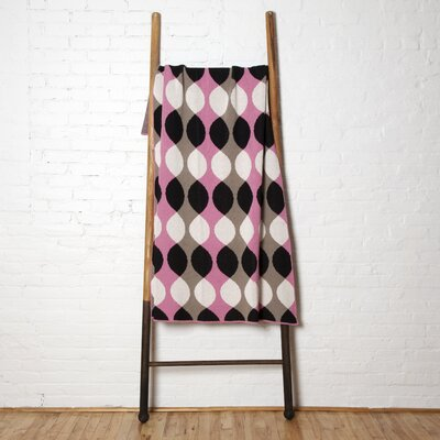 Helix Throw Blanket Color: Pink/Black/Hemp