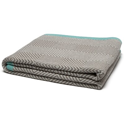 Woven Square Throw Blanket Color: Hemp/Milk
