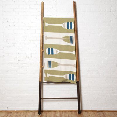 Paddles Throw Blanket Color: Pistachio