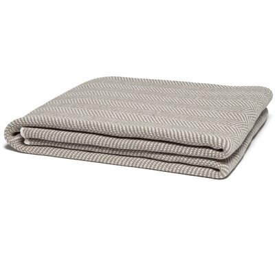 Herringbone Throw Color: Khaki