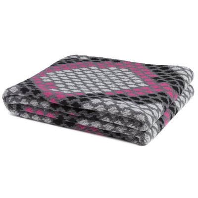 Snakeskin Throw Blanket Color: Aluminum/Fuchsia