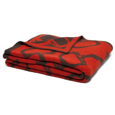 Reversible Bits Throw Blanket Color: Spice/Chocolate