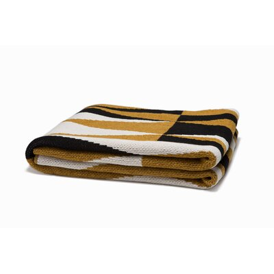 Right Angles Throw Blanket Color: Dijon/Black