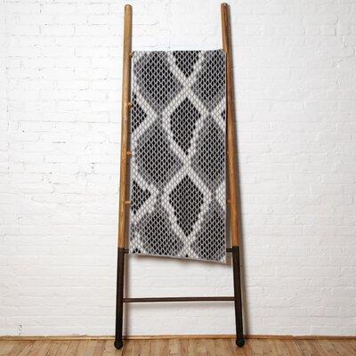Snakeskin Throw Blanket Color: Black/Alum