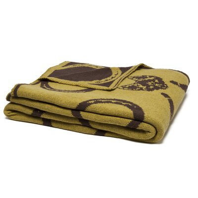 Reversible Mr. Fox Throw Blanket Color: Moss/Chocolate