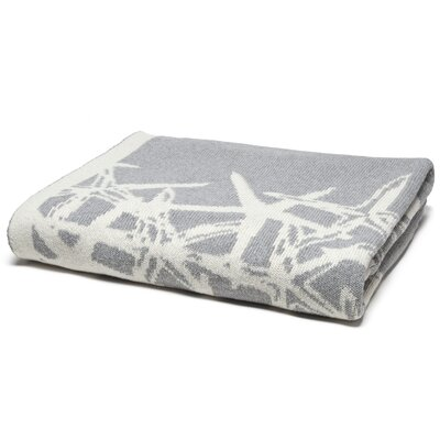 Reversible Tumbling Starfish Throw Blanket Color: Aluminum/Milk
