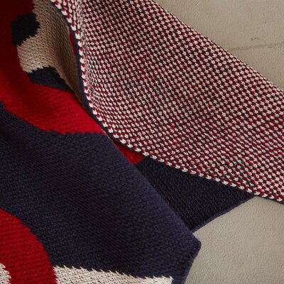 Eco Designer Sailor Knots Throw Blanket Color: Marine / Milk / Cherry