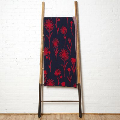 Galbraith Kids Dandelion Throw Blanket Color: Marine/Cherry
