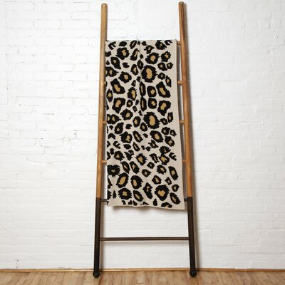 Cheetah Throw Blanket Color: Black/Straw/Flax