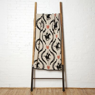 The Hunt Throw Blanket Color: Flax/Black/Spice