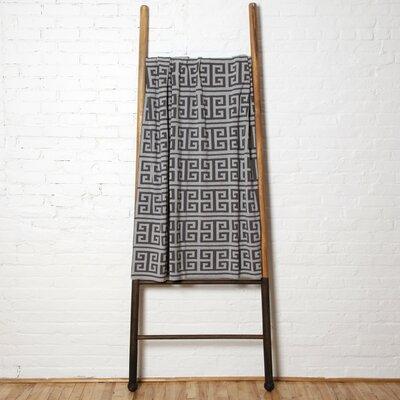 Reversible Infinite Throw Blanket Color: Smoke/Aluminum