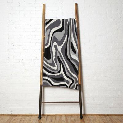 Marble Throw Blanket Color: Black/Aluminum/Smoke