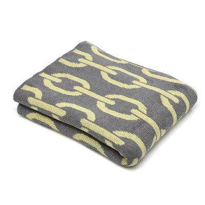 Cantrell Links Cotton Throw Blanket Color: Smoke- Pistachio