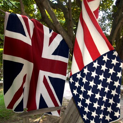 USA Flag Cotton Throw Blanket