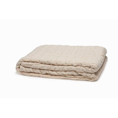 Eco Designer Classic Cable Cotton Throw Blanket