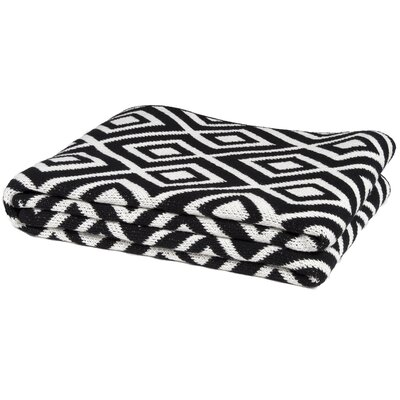 Eco Designer Mod Squares Throw Blanket Color: Black