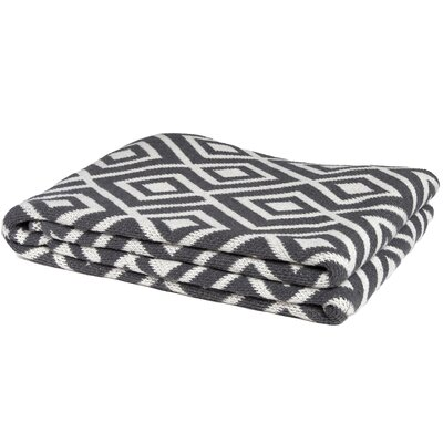 Eco Designer Mod Squares Throw Blanket Color: Smoke