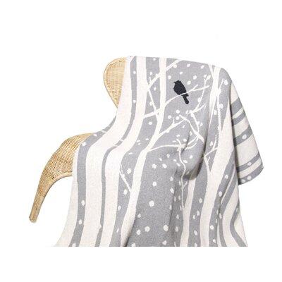 Cassey Birch Throw Blanket Color: Aluminum