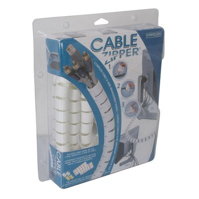 Image of Evriholder Large Clam Cable Zipper / Cord Organizer in White (QTY1104)