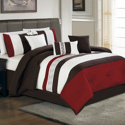 Ethan 7 Piece Comforter Set Size: Queen