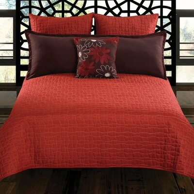 Charleston 5 Piece Coverlet Set Size: King