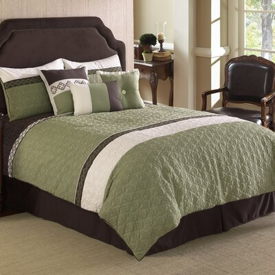 Frontera 7 Piece Comforter Set Size: Queen