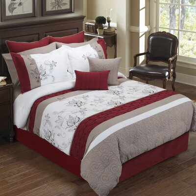 Eloise 8 Piece Comforter Set Size: King